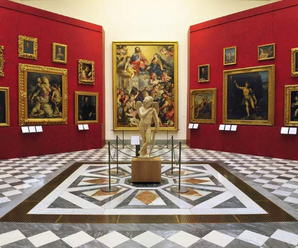 Image result for interior the uffizi museum florence